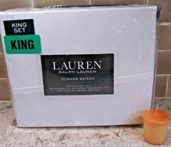 Polo Ralph Lauren Dunham KING Sheet Set WHITE Fast Ship 300 Thread Free... - $81.68