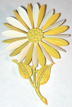 Vintage Hedy Enamel Daisy Flower Pin/brooch White Yellow Hippie Love Wed... - $15.00