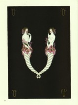 "Erte, Semi-Nude ""V"" from ""The Alphabet"" collection. Vintage 1978 Art Dec... - $18.02"