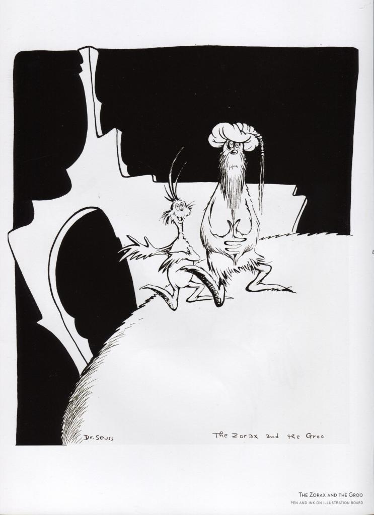 "Dr. Seuss. ""Midnight Paintings"" Cartoon Print. ""The Zorax and the Groo""."