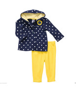 Carter's Baby Girl 2 Pc.Polka Dot Hooded Cardigan Set. Size 12 Months. NWT - $17.99