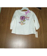 Route 66 Baby Girl Flower Appliques, Long Sleeves Tee. Sz.6-9 Months. NWT - $7.91