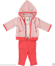 Carter's Baby Girl 3 Pc. Love Mommy  Hooded Jacket Set. Size 12 Months. NWT - $19.79