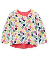 Okie Dokie Baby Girl Hi-Low Multicololor, Star Print Long Sleeve Tee. Sz... - $7.99