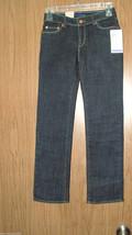 Levi's Girl's Slim Straight, Adjustable Waist Jeans,Sz 8 & 10 Reg. Dark Wash.NWT - $19.99