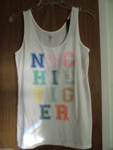 Tommy Hilfiger Women's Cotton, Logo Tank/Top,White Color, Size Medium(US... - $17.99