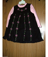 Good Lad Baby Girls 2 Pc Jumper Dress Set, Size 24 Months. NWT - $21.77