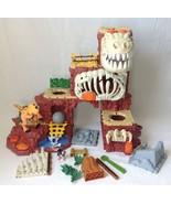 Imaginext T Rex Mountain Dinosaur Play Set Cave Man Sounds w Instructions - $99.99