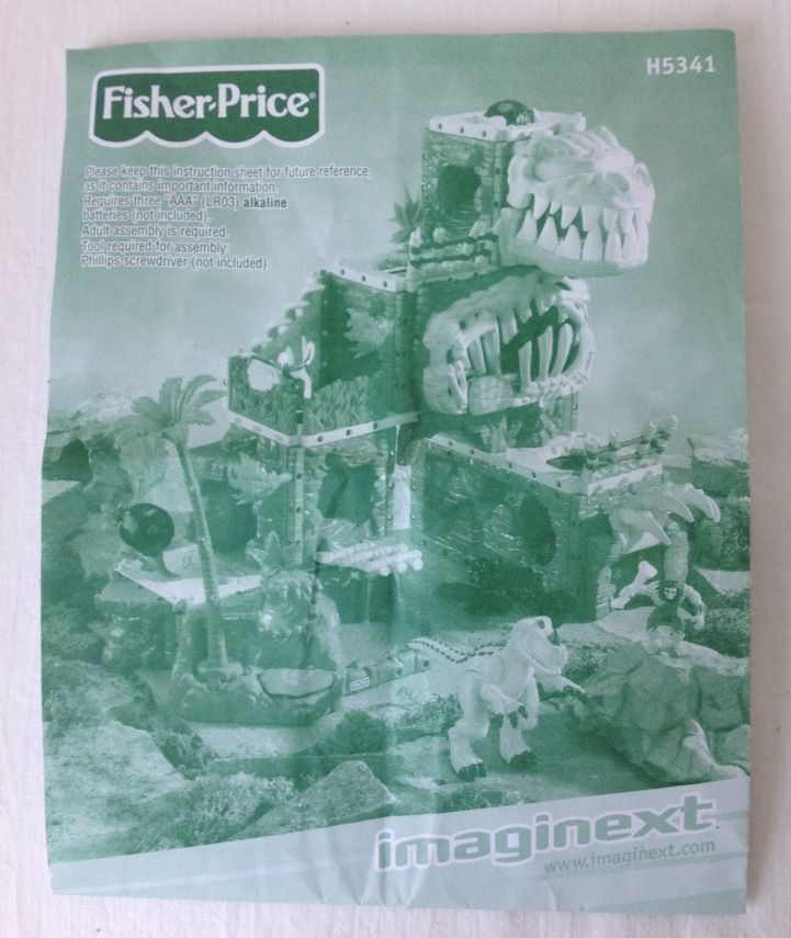 fisher price imaginext dinosaur mountain instructions
