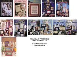Bundle Mill Hill March 2014 Special 10 Cross Stitch Charts Mill Hill Designs - $20.00