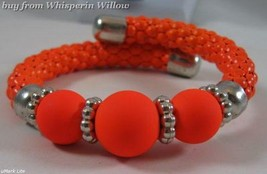Orange Spiral Adjustable Fashion Bracelet - $12.95