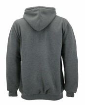 Men's Heavyweight Thermal Zip Up Hoodie Sherpa Lined Sweater Jacket w/ Defect XL image 2