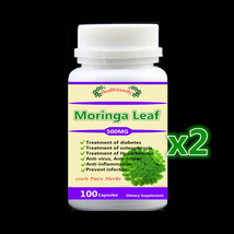 2 bottle 200pcs,Natural Moringa Leaves Extract,For diabetes,osteoporosis... - $67.47