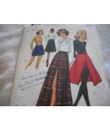 Vintage Woman's Short or Long Skirt & Shorts Pattern Butterick 6414 - $7.00