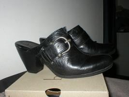 9 M 40.5 Euro Born Concept B.O.C Black Leather Western Boot Clog Maryann - $50.00