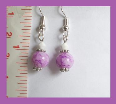 Purple Crystal Lampwork & Swarovski Crystal Earrings