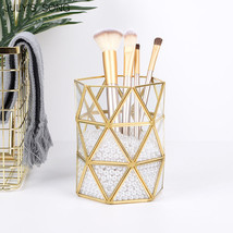 July'sSong® Exquisite Gold Storage Box Makeup Organizer Cosmetic Brush H... - €20,39 EUR+