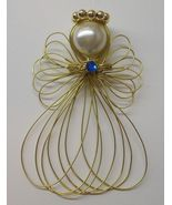 Birthstone Angel Ornament Handmade Goldtone - $7.00
