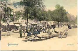 Rotterdam Street Scene vintage 1901 Post Card - $6.00