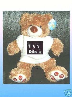WITH THE BEATLES CUDDLY TEDDY BEAR