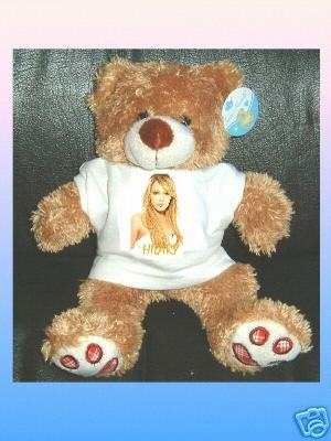HILARY DUFF CUDDLY TEDDY BEAR