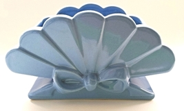 Abingdon USA Blue Fan Ribbon Planter Pottery Vase - $27.00