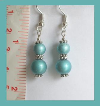 Vintage Blue Crystal Lampwork Earrings