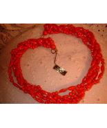 Vintage Jewelry Red & White Plastic Vintage Necklace Lot - $16.00