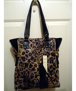 Kate Landy Madison Blue Leopard Print Handbag - $59.99