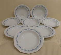 Rosenthal Classic Rose Collection Maria Blue Garland 8 Rimmed Soup Plates - $79.00