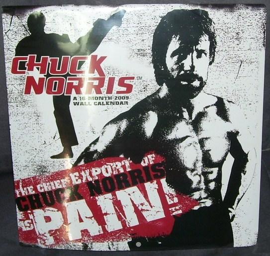 Last Year Calendar : Chuck norris month collectible wall calendar new