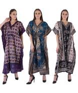 Maxi Dress New Long Kaftan Hippy Boho Women Caftan Top Dress Gown Free Size - $53.99