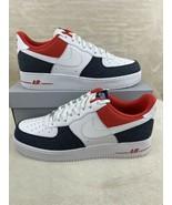 "Nike Air Force 1 '07 LX Shoes ""Denim"" White Blue Red DJ5174-100 Men's Si... - $168.27"
