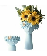Resin Sculpture Flower Fairy Vase Pot Home Desktop Storage Two-piece Cra... - $51.37+