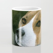 Coffee Mug Cup 11oz or 15oz Made in USA Dog 116 Beagle green art L.Dumas - $19.99+