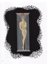 "Erte ""One"". 1 from ""The Numerals"" Collection. Vintage 1978 Art Deco print. - $18.61"