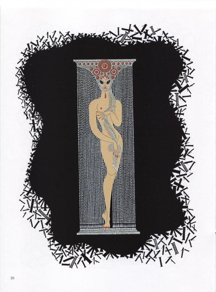 """Erte """"One"""". 1 from """"The Numerals"""" Collection. Vintage 1978 Art Deco print."""