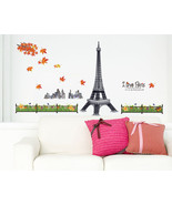 GIANT Paris Eiffel Tower Wall Sticker Decal Home Art Mural Vinyl Decor SL9503X - $19.75