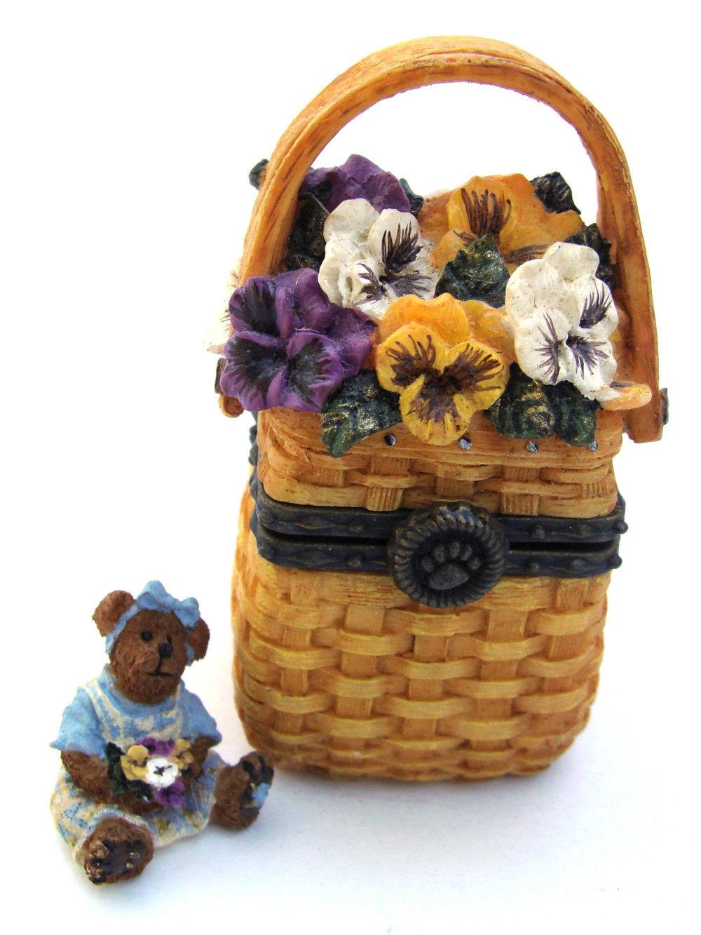 "Boyds Treasure Box ""Ima's Tiny Tote"" #392136LB-Longaberger LE-NIB-2003-Retired"