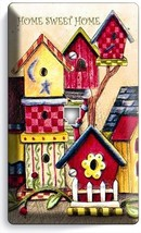 RUSTIC COUNTRY BIRD HOUSES SWEET HOME PHONE TELEPHONE WALL PLATE COVER A... - $9.89