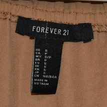 Forever 21 Women's Camel Brown Off-the-Shoulder Sheer Blouse Size S image 3