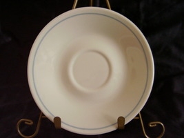 Corelle First of Spring Saucer Off White Almond Blue Band - $3.00