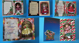 "(5) Keepsake Marie Osmond Christmas Greeting Cards & 6"" Dolls In Window Boxes  - $48.51"