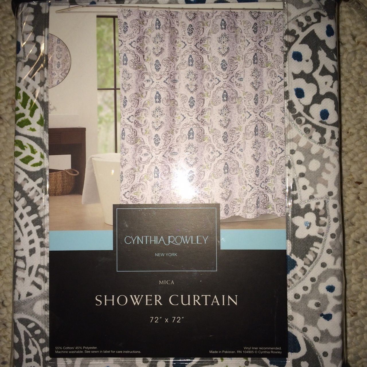 Gray And Teal Shower Curtain Fig Leaf Fancy A Pattern In Teal And Grey Shower
