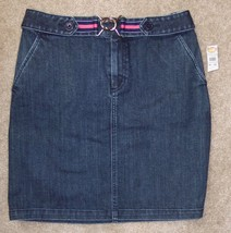 New Talbots 10 Petite Jean Skirt Straight Pencil Cotton Stretch Denim 10P - $25.20