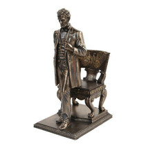Abraham Lincoln Figurine Standing near Chair with Eagle - $47.51