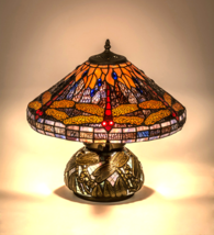 "16""H  Tiffany Hanginghead Dragonfly Cone Table Lamp - 118749 - £300.71 GBP"