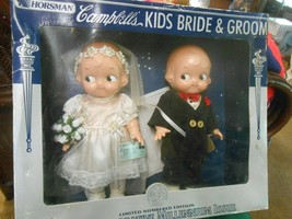 Great Collectible CAMPBELL'S Bride and Groom Dolls by Horsman - $37.21