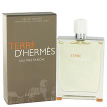 Hermes Terre D'Hermes Cologne 4.2 Oz Eau Tres Fraiche Eau De Toilette Spray image 6