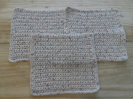 Set of 3 hand made crochet dish or wash cloths - $9.99